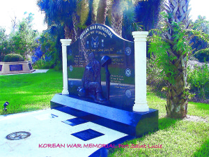 Photo courtesy of Peter Popolizio Army Korean War veteran Peter Popolizio designed the Korean War Memorial monument at Veterans Memorial Park, Port St. Lucie.