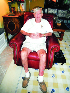 Staff photo by Mary Kemper World War II Marine Corps veteran James, Bradley is seen here at his home in Port St. Lucie.