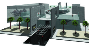 Drawing courtesy of the U.S. Navy National UDT-SEAL Museum An artist's rendition of the planned SEAL museum entryway.