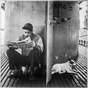 Source: Wikimedia Commons A submariner relaxes by reading comics at the base of a submarine conning tower during World War II, alongside the submarine's mascot, 'Pants.' The Treasure Coast Submarine Veterans plan to erect a monument to the crewmen of 65 submarines lost, mostly in wartime, with the help of a March 15 'Bowl-A-Thon' fundraiser at St. Lucie Lanes, Port St. Lucie.