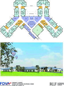 Image courtesy  of the Florida  Department of Veterans Affairs The Florida Department of Veterans Affairs wants the Ardie R. Copas State Veterans' Nursing Home to have single-occupancy rooms in four clusters to give it a homey feeling. Groundbreaking will be later this year, or early next year.