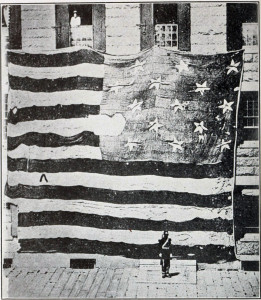 Source: Wikimedia Commons Flag that floated over Fort McHenry in 1814.