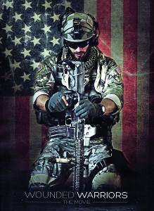 Image courtesy of Tom Matteo The poster for the upcoming motion picture 'Wounded Warriors.'