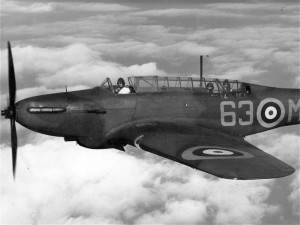 Source: Wikimedia Commons The Fairey Battle light bomber. The plane was flown through June 1940, after which it was deemed obsolete and dangerous.