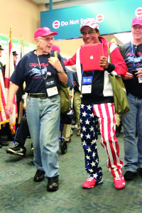 File photo U.S. Army veteran Harvey List is escorted by Dr. Shamshir Singh through Palm Beach International Airport following the return of Honor Flight from Washington, D.C. Sat., Oct. 19. The next flight is scheduled for Oct. 24.