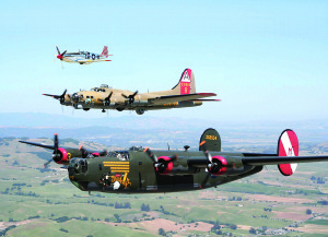Photo courtesy of the Collings Foundation  The Collings Foundation's Wings of Freedom tour featuring three World War II aircraft will touch down at the Martin County Airport/Witham Field on Friday, Jan. 15, and stay until Sunday. Then it'll head to Melbourne for four days.