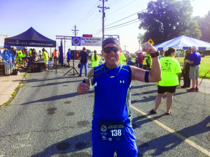 Photo courtesy of Ed Burrows  Stuart Navy veteran Ed Burrows is among runners signed up for The Marathon of the Treasure Coast, which will have events ranging from a 5K to marathon March 5 and 6 starting from Memorial Park, 300 S.E. Ocean Blvd. Stuart. Burrows started running a mile a day in 2009 to handle personal issues. Since then he's graduated to doing half marathons, 13.1 miles. The race he's proudest of is the Navy Ten Nautical Miler, hosted by the Morale, Welfare and Recreation Department Naval Support Activity Mid-South – Millington, TN. Ten nautical miles is 11.5 five miles, or 18.52 kilometers.