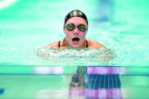 Photo by E.J. Hersom Army Reservist Chasity Kuczer swims breaststroke during the 2015 Department of Defense Warrior Games in Manassas, Va. June 27, 2015.  The swimming event portion of the games was held at the Freedom Aquatic and Fitness Center in Manassas.