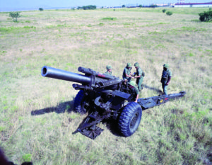 Source: Department of Defense An M114 155-mm howitzer is shown in firing position at an undisclosed location in 1985. This type of big gun was key to winning the Battle of Bloody Ridge, which took place from Aug. 18 to Sept. 5, 1951, near the 38th Parallel in Korea.