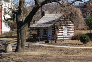 Source: Wikimedia Commons This small cabin served as George Washington's headquarters at Fort Cumberland, Maryland, during one stage of his campaign in the French and Indian Wars in the mid-18th century.