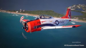 Photo courtesy of the Stuart Air Show  The Trojan Horsemen and its T-28s will be in this year's Stuart Air Show.