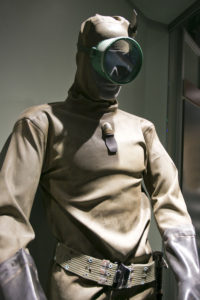 Photo courtesy of the National Navy UDT-SEAL Museum Predecessors of the storied Navy SEALs got the nickname 'frogmen,' because of early dry suits first used in the Korean War. This early dry suit is on display at the National Navy UDT-SEAL Museum's Cold War Gallery.